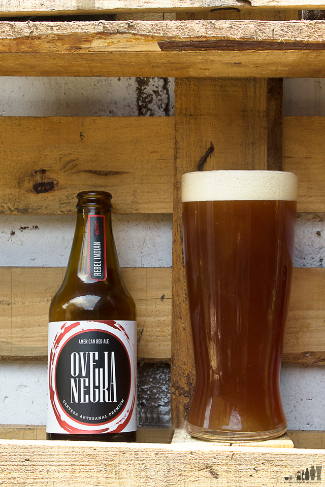 oveja negra: Rebel Indian.- ABV: 6,1 % | Color: 16 SRM aprox. Amargor: 30 IBU